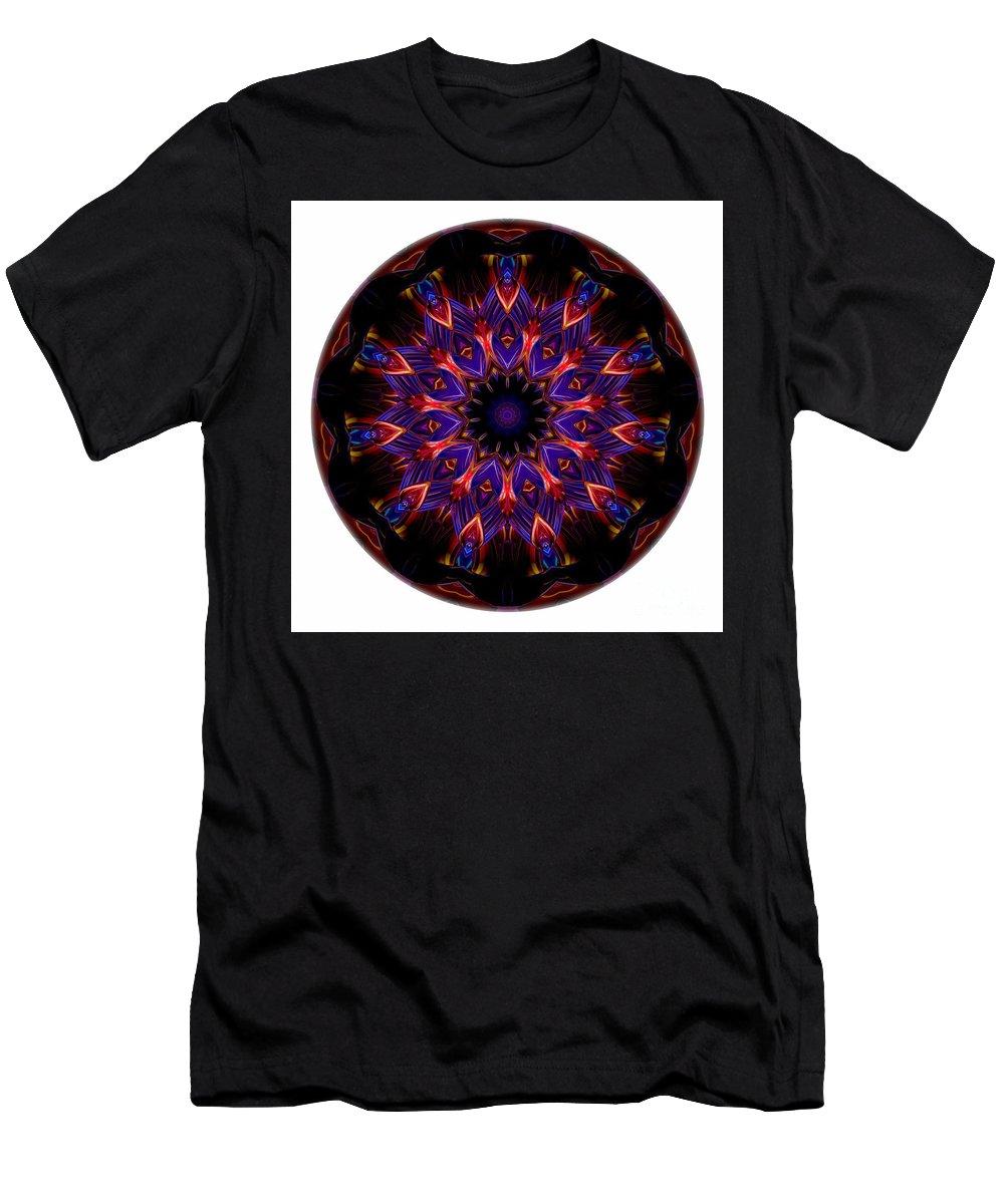 Talisman Men's T-Shirt (Athletic Fit) featuring the digital art Mandala - Talisman 1448 by Marek Lutek
