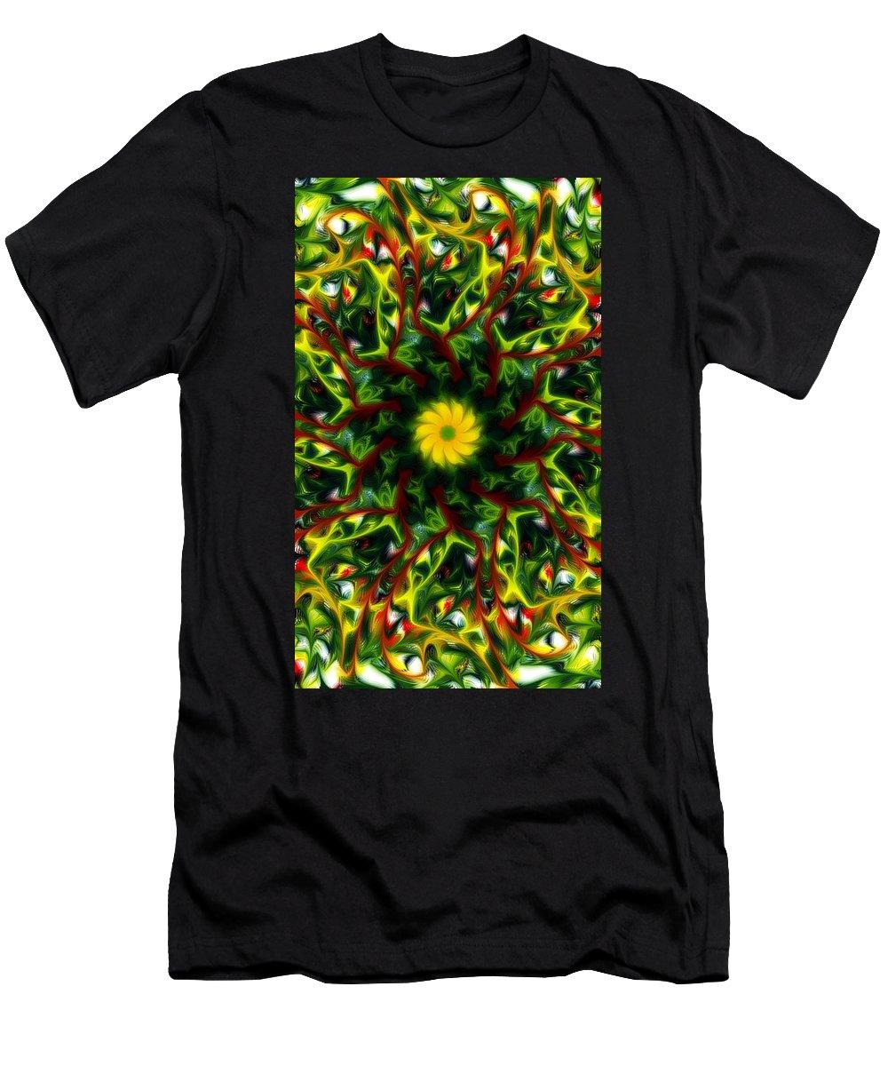 Mandella Men's T-Shirt (Athletic Fit) featuring the digital art Mandella 6 by David Lane