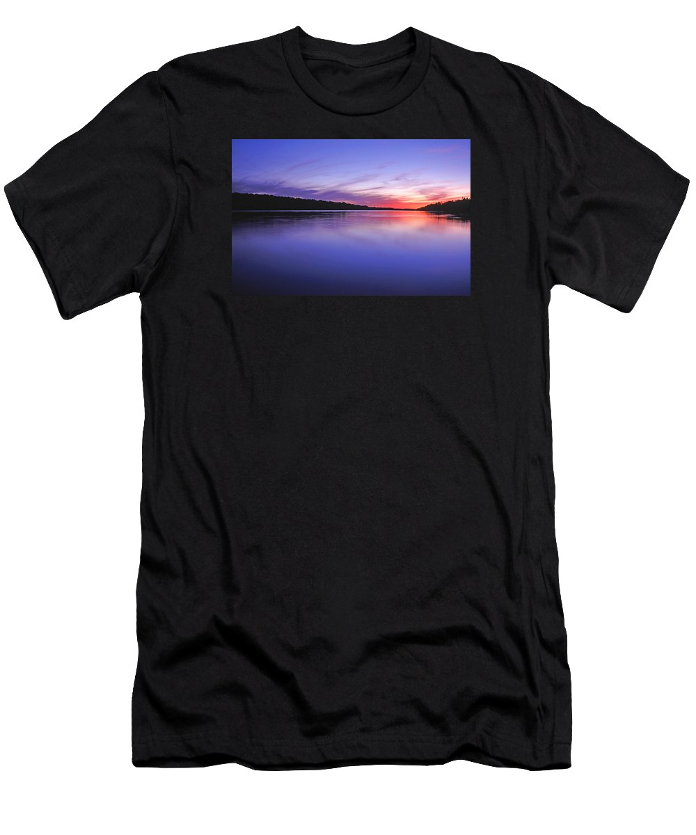 Landscape Men's T-Shirt (Athletic Fit) featuring the photograph Manidooziibi by Bill Morgenstern