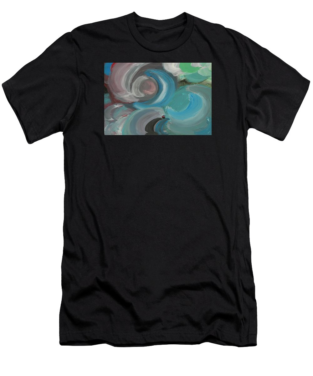 Moons Men's T-Shirt (Athletic Fit) featuring the painting Many Moons Ago by Connie Ann LaPointe