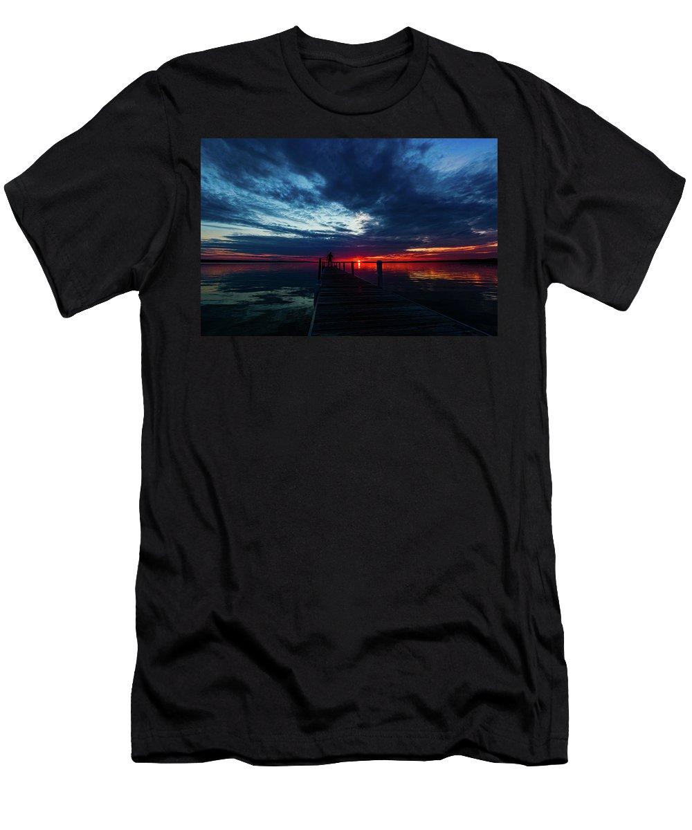 Maplehurst Dock Men's T-Shirt (Athletic Fit) featuring the photograph Maplehurst Dock by Joe Holley