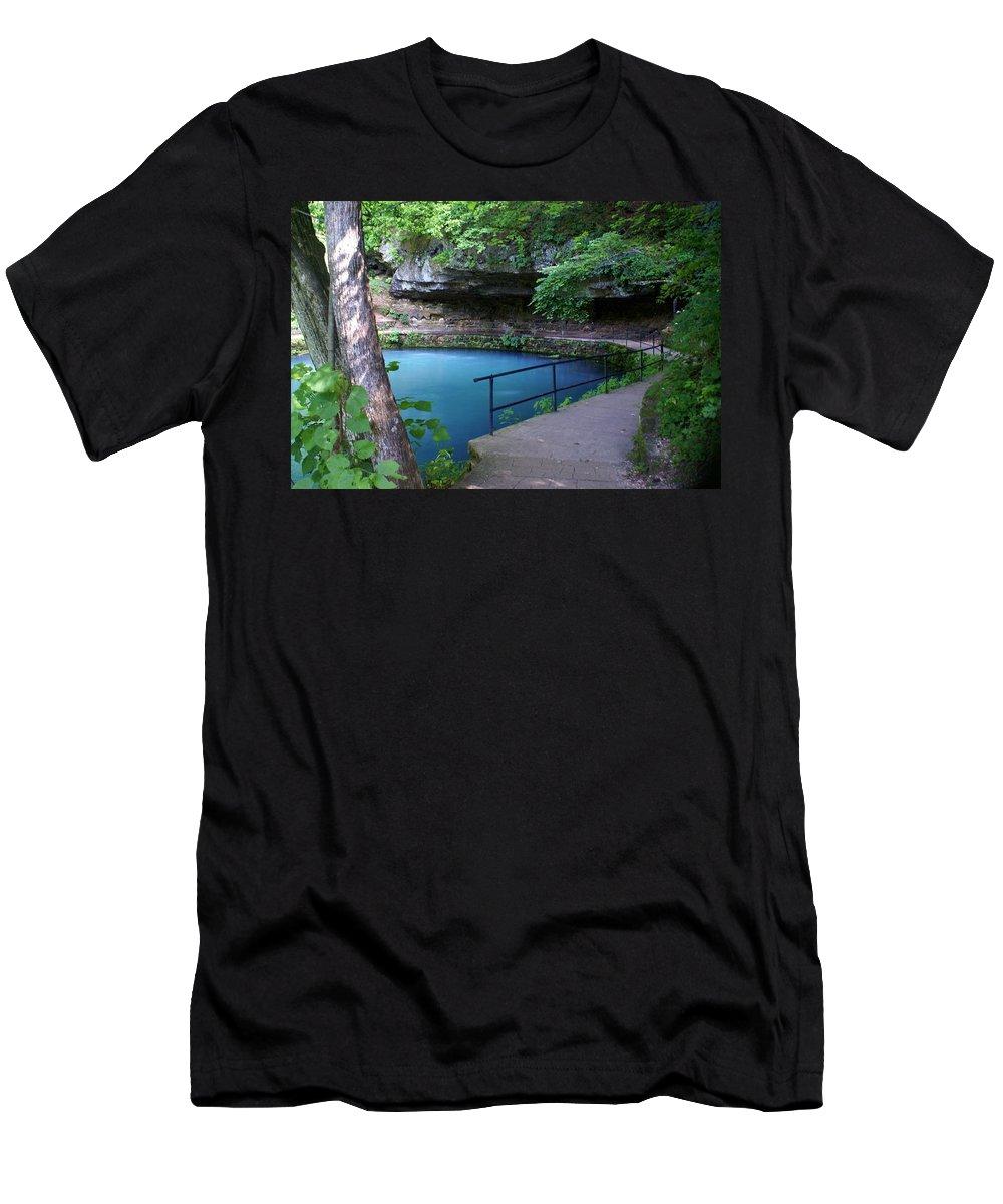 Maramec Springs Park Men's T-Shirt (Athletic Fit) featuring the photograph Maramec Springs 3 by Marty Koch