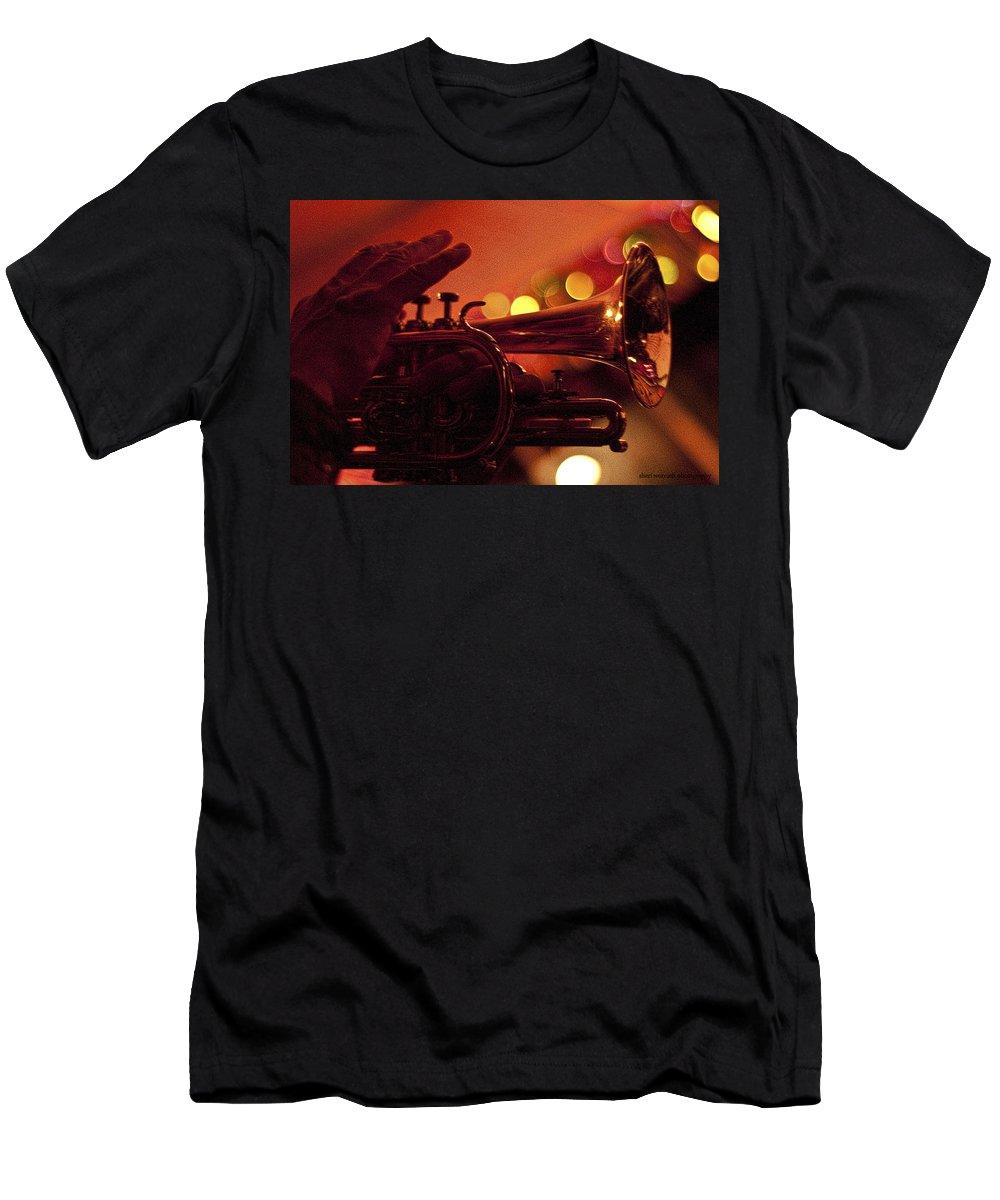 Trumpet Men's T-Shirt (Athletic Fit) featuring the photograph Mardi Gras by Sheri Bartoszek