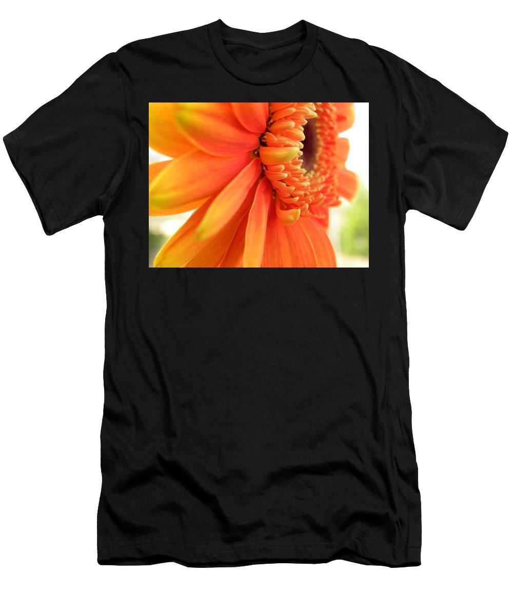 Nature Men's T-Shirt (Athletic Fit) featuring the photograph Gerbera Daisy by Shannon Turek
