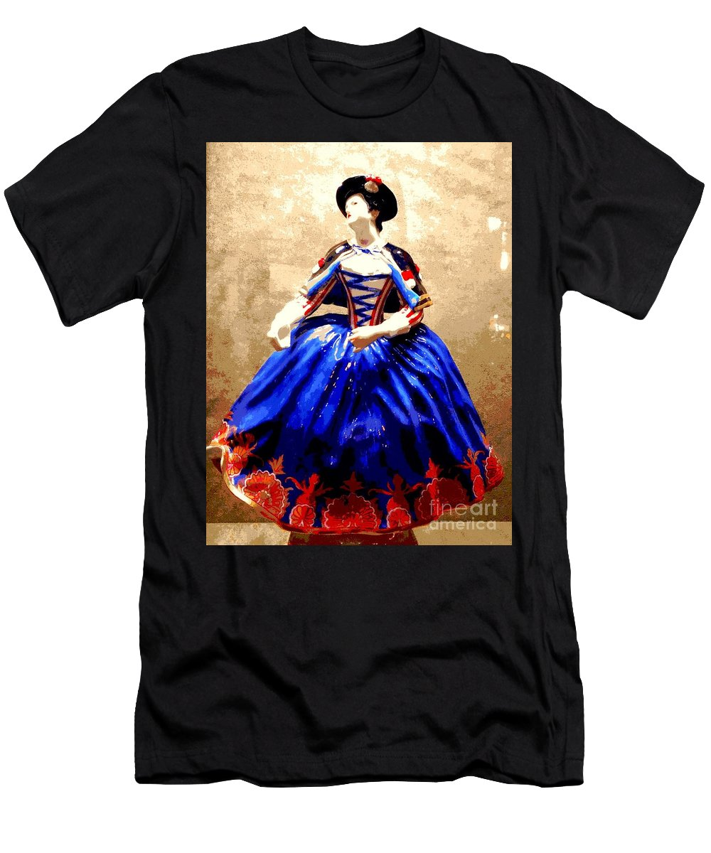 Nola Men's T-Shirt (Athletic Fit) featuring the photograph Marie Antoinette Figurine In New Orleans by Michael Hoard