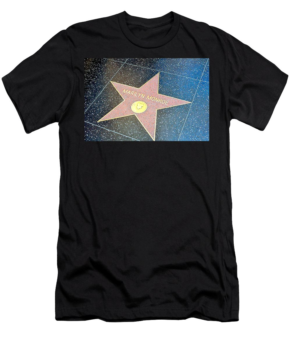 Marilyn Monroe Men's T-Shirt (Athletic Fit) featuring the photograph Marilyn's Star by John Hughes