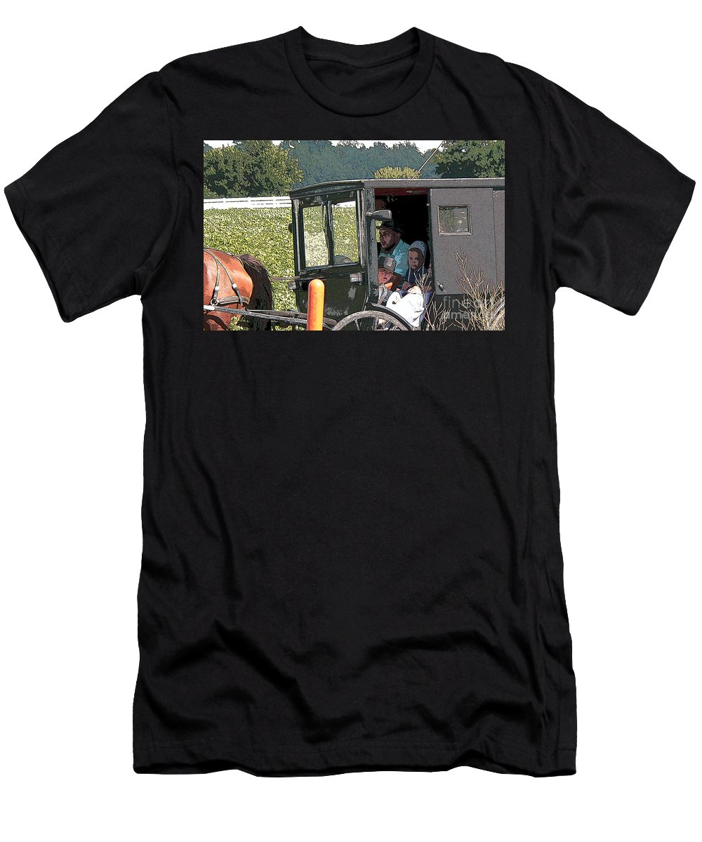 Nappanee Indiana Men's T-Shirt (Athletic Fit) featuring the photograph Market Day by David Bearden