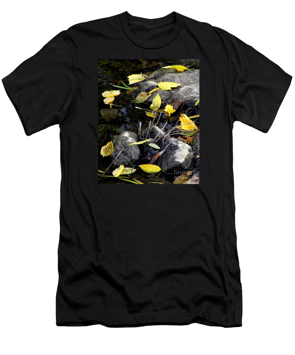 Leaves Men's T-Shirt (Athletic Fit) featuring the photograph Marooned by Joe Jake Pratt