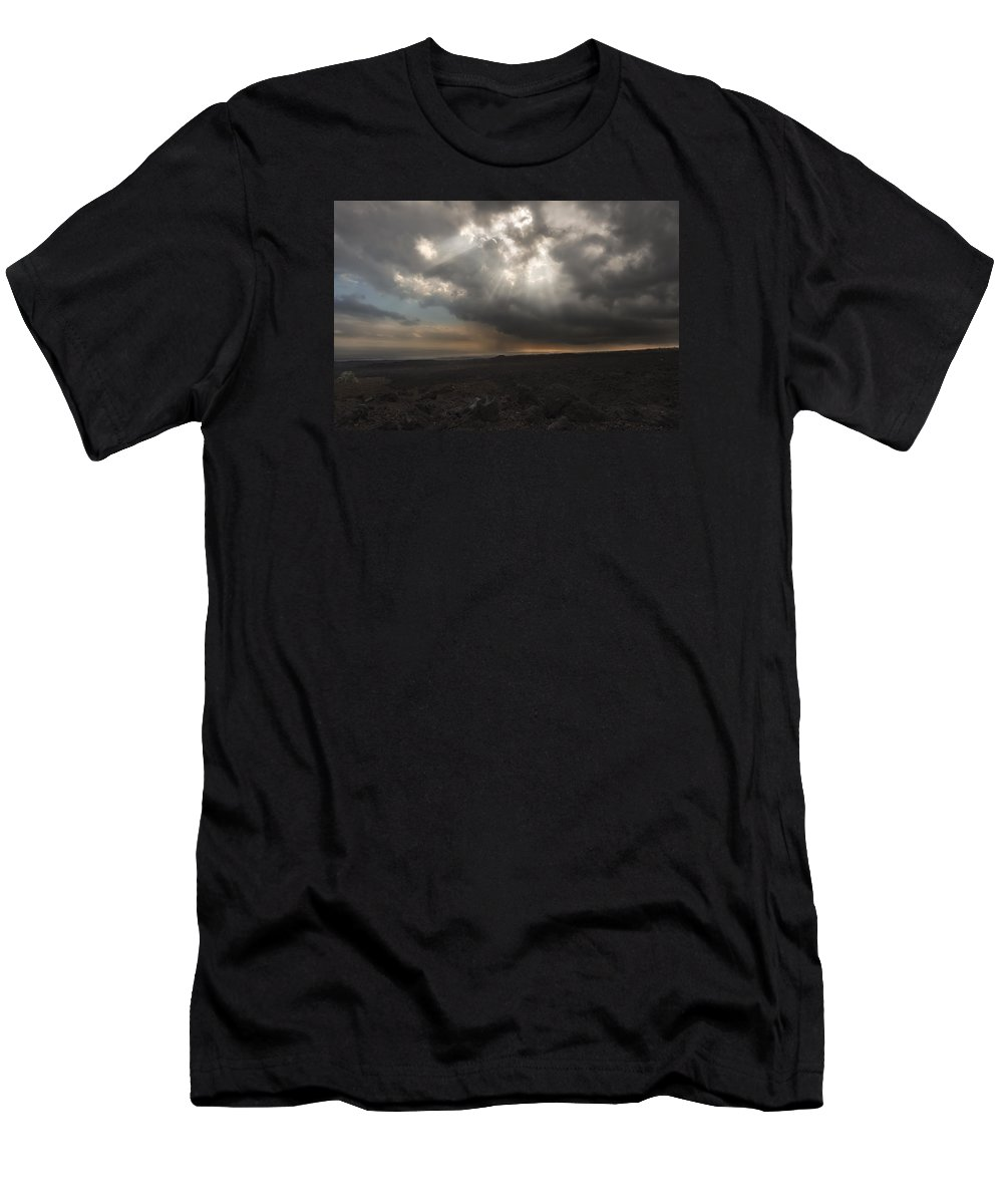 Sky Men's T-Shirt (Athletic Fit) featuring the photograph Mars Landscape by Ryan Manuel