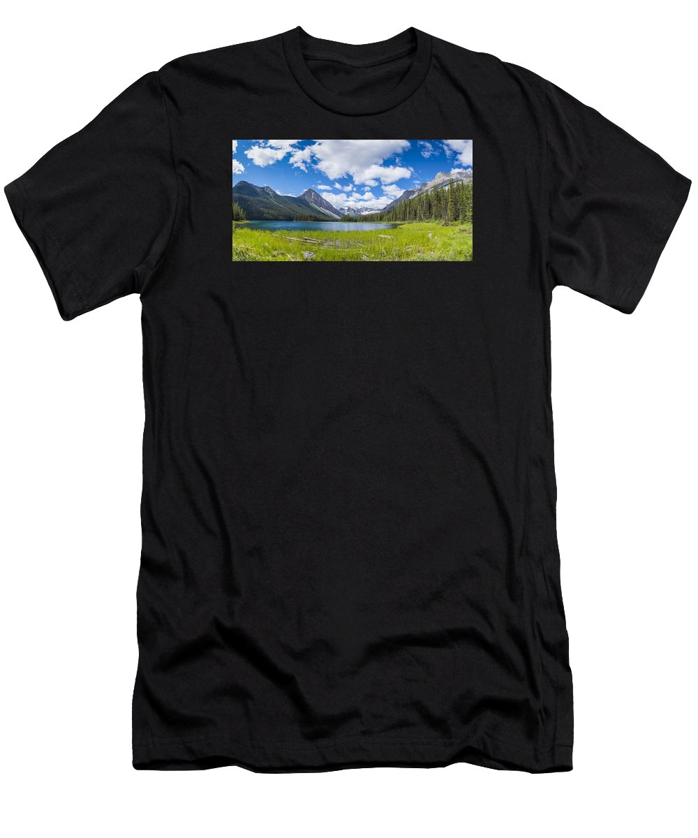 Alberta Men's T-Shirt (Athletic Fit) featuring the photograph Marvel Lake by Brandon Smith