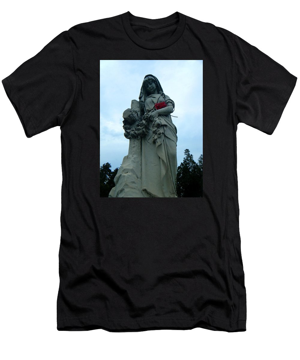 Mary Men's T-Shirt (Athletic Fit) featuring the photograph Mary by April Patterson