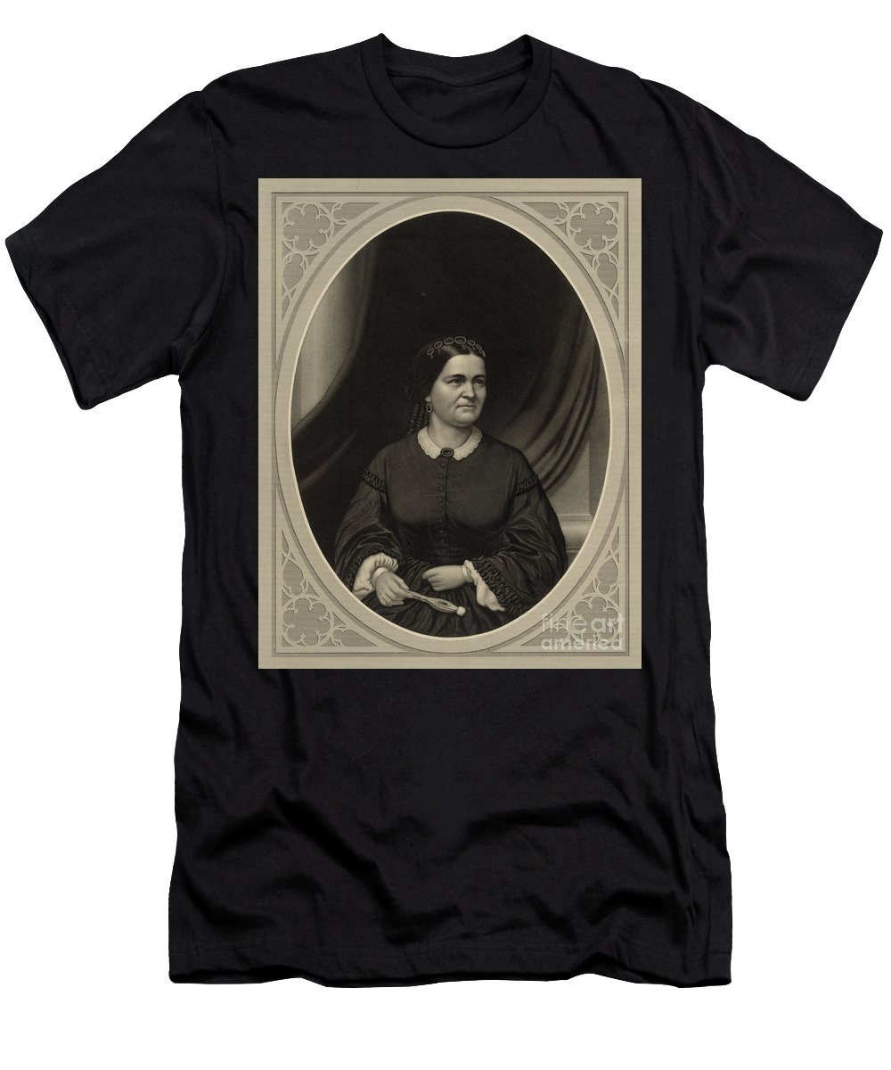 Government Men's T-Shirt (Athletic Fit) featuring the photograph Mary Todd Lincoln, First Lady by Science Source