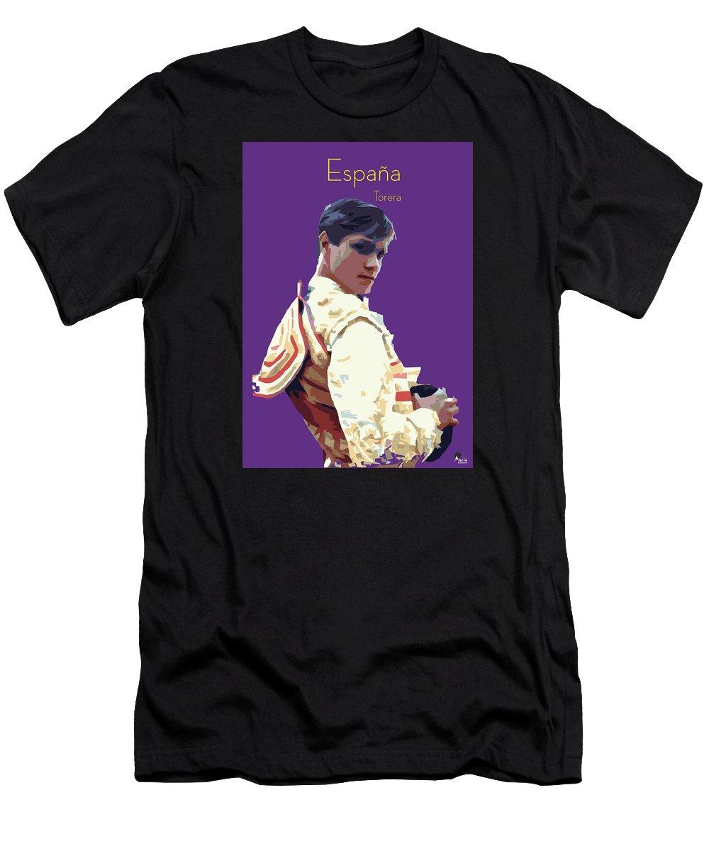 Torero Men's T-Shirt (Athletic Fit) featuring the digital art Spanish Matador by Joaquin Abella
