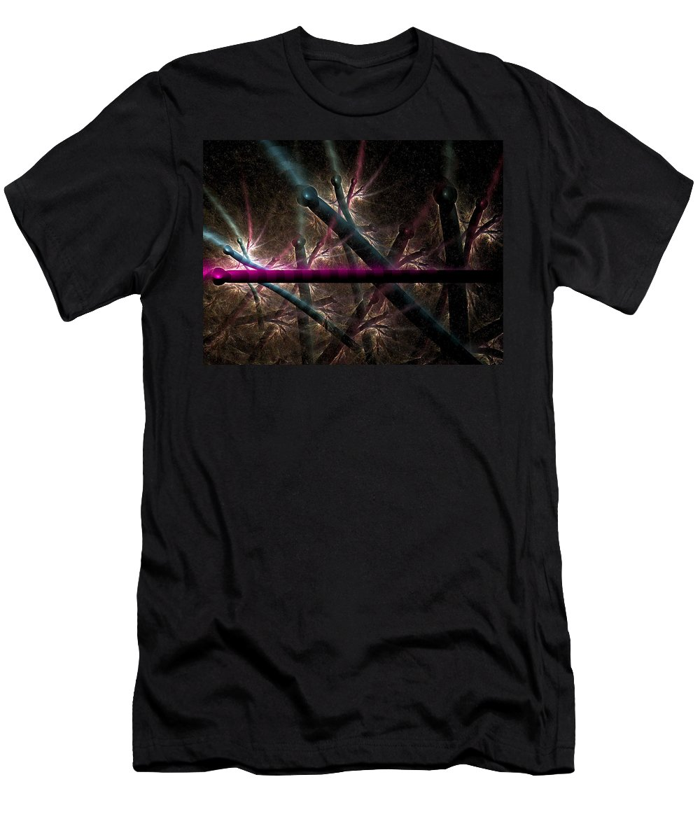 Fractal Men's T-Shirt (Athletic Fit) featuring the digital art Matchstick Madness by Amorina Ashton