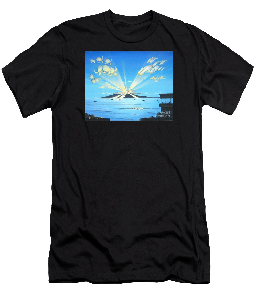 Maui Men's T-Shirt (Athletic Fit) featuring the painting Maui Magic by Jerome Stumphauzer