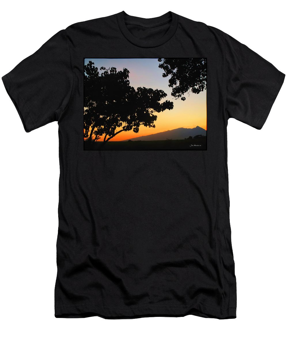 Maui Men's T-Shirt (Athletic Fit) featuring the photograph Maui Road Sunset by Joan Minchak
