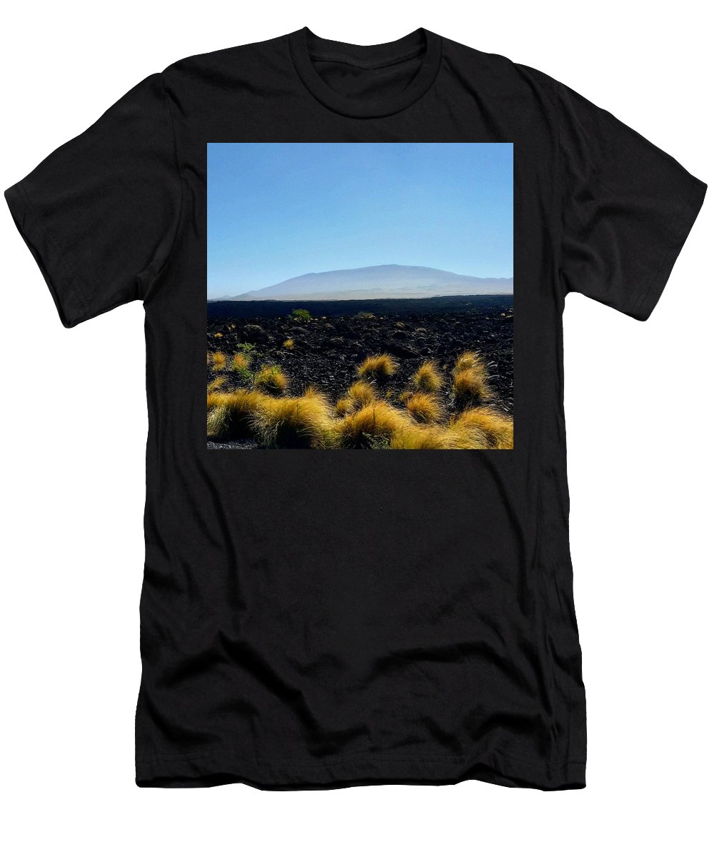 Landscape Men's T-Shirt (Athletic Fit) featuring the photograph Mauka by Michael Maimone