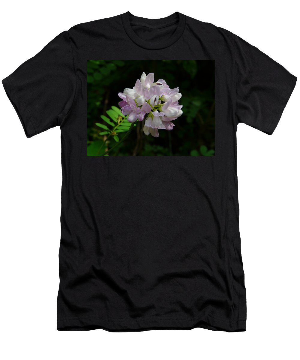 Flower Men's T-Shirt (Athletic Fit) featuring the photograph Mauve Flower by Valerie Ornstein