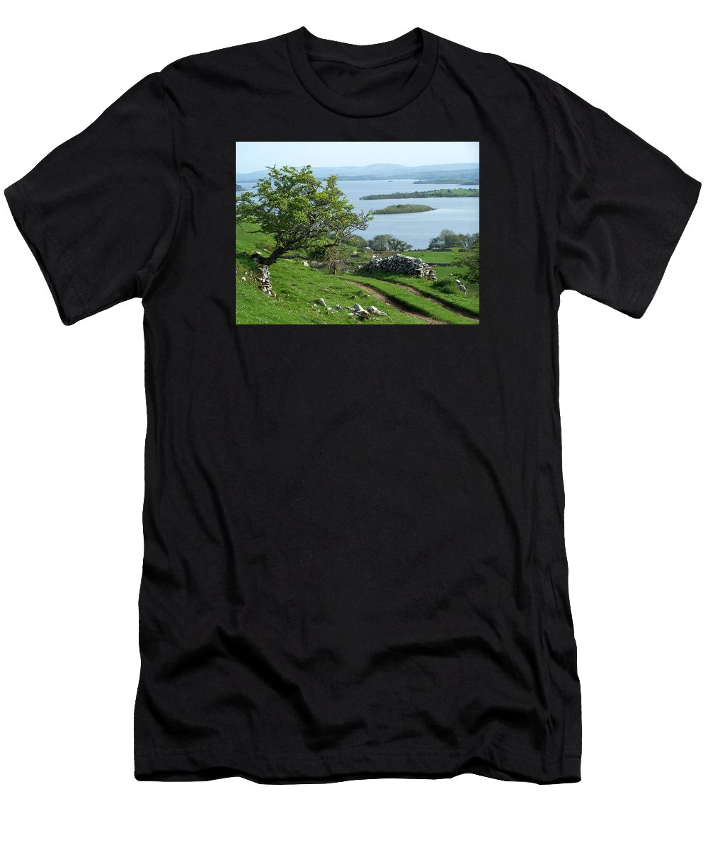 Ireland Men's T-Shirt (Athletic Fit) featuring the photograph May The Road Rise To Meet You by Teresa Mucha