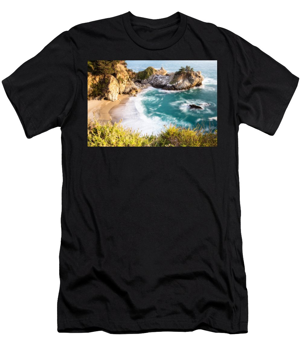 Burns Men's T-Shirt (Athletic Fit) featuring the photograph Mcway Falls by Charles Wollertz