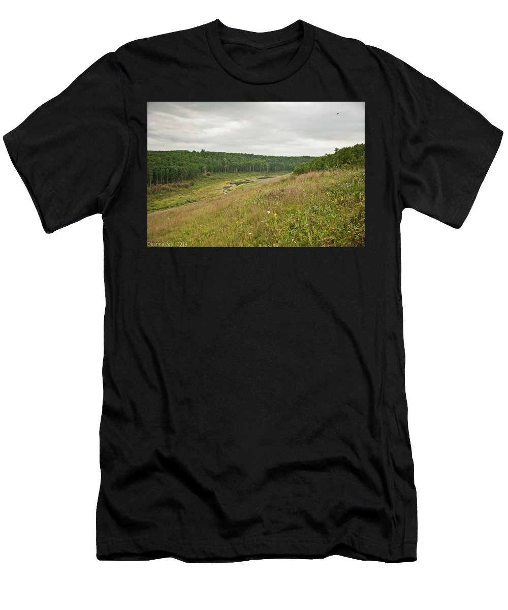 Nature Men's T-Shirt (Athletic Fit) featuring the photograph Meadow Green by Deanna Paull