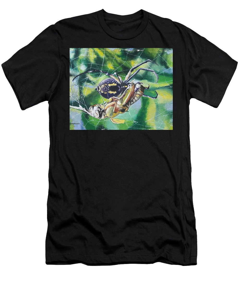 Men's T-Shirt (Athletic Fit) featuring the painting Meadow Path by Anna Zarshin