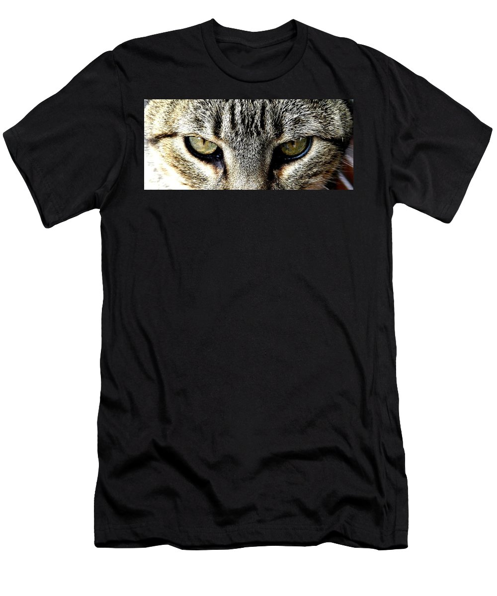 Cat Men's T-Shirt (Athletic Fit) featuring the photograph Me...dangerous...never. by Valerie Ornstein