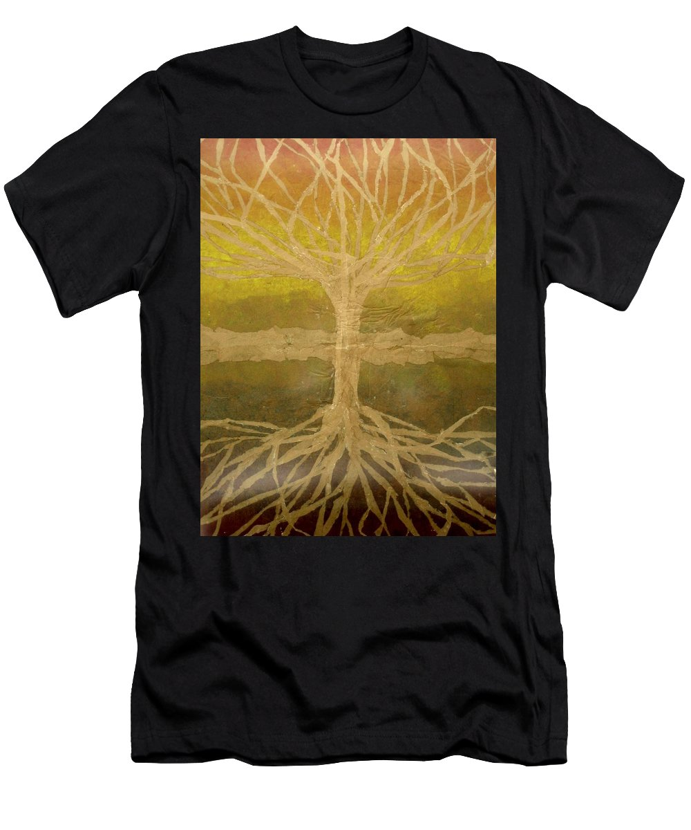 Abstract T-Shirt featuring the painting Meditation by Leah Tomaino