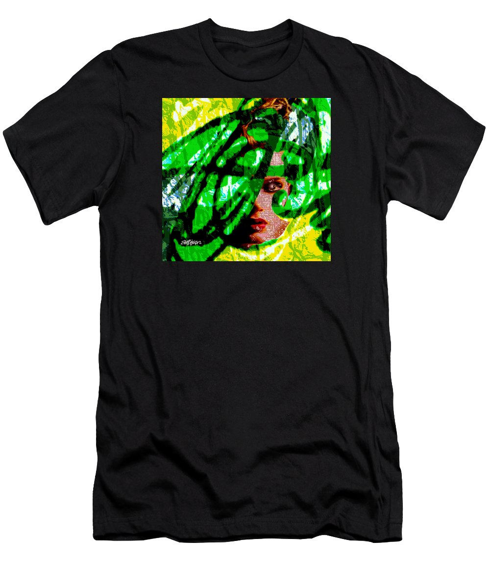 Abstract Men's T-Shirt (Athletic Fit) featuring the digital art Medusa 1-26 by Seth Weaver