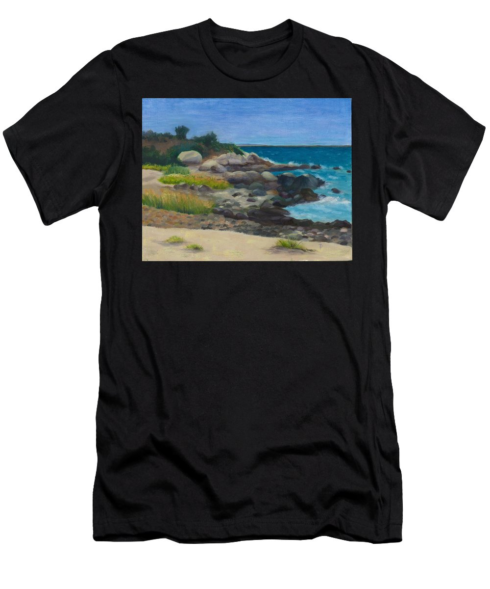 Landscape T-Shirt featuring the painting Meigs Point by Paula Emery