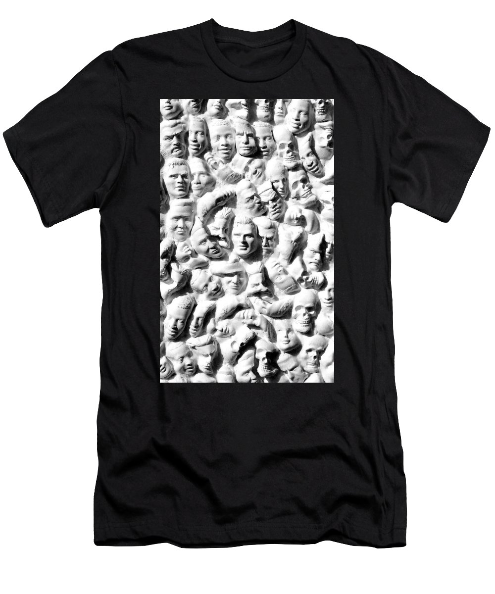Figure Men's T-Shirt (Athletic Fit) featuring the sculpture Melancholic Journey 1 by Mark Cawood