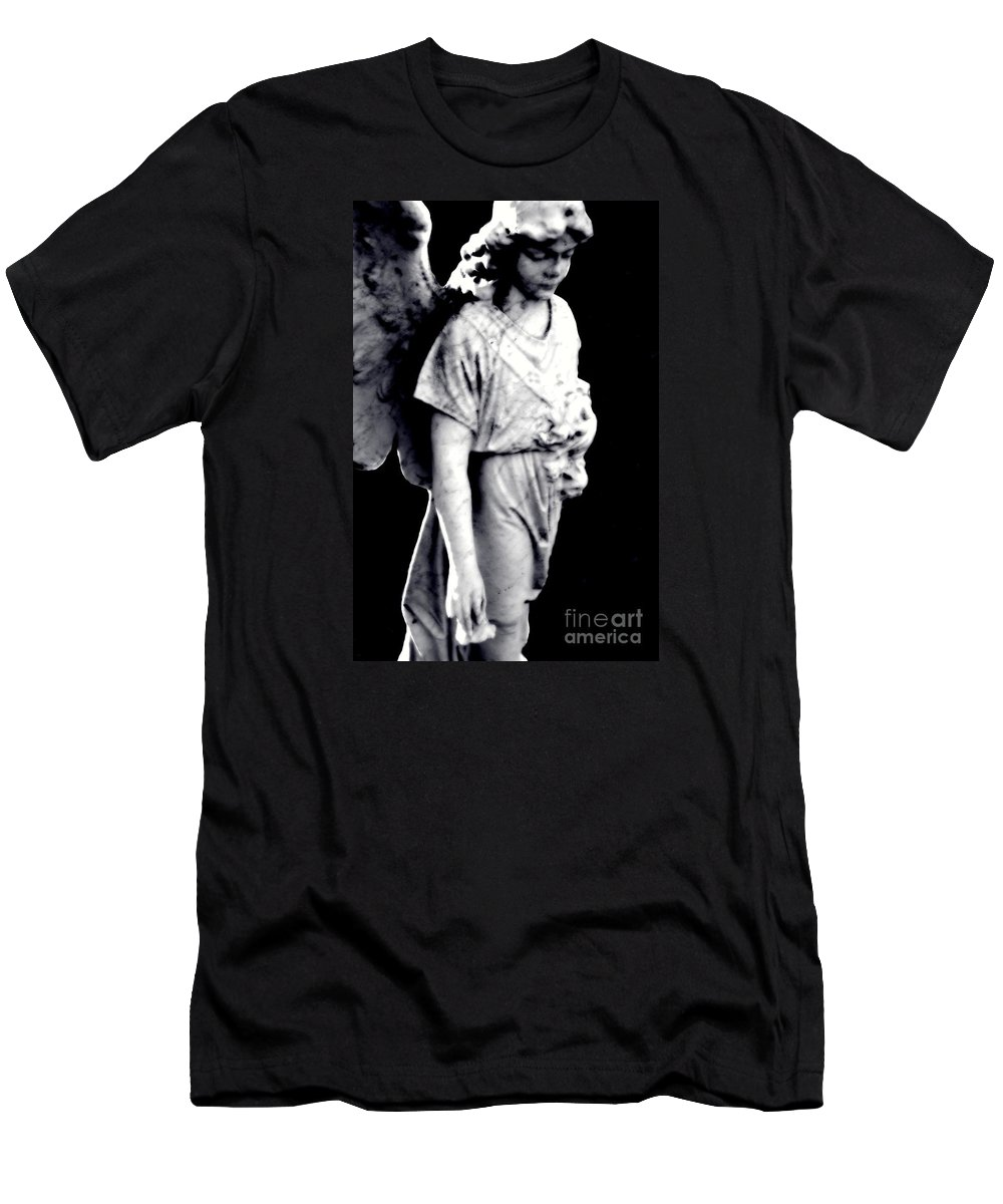 Tombstone Men's T-Shirt (Athletic Fit) featuring the photograph Angel by Tania Eddingsaas