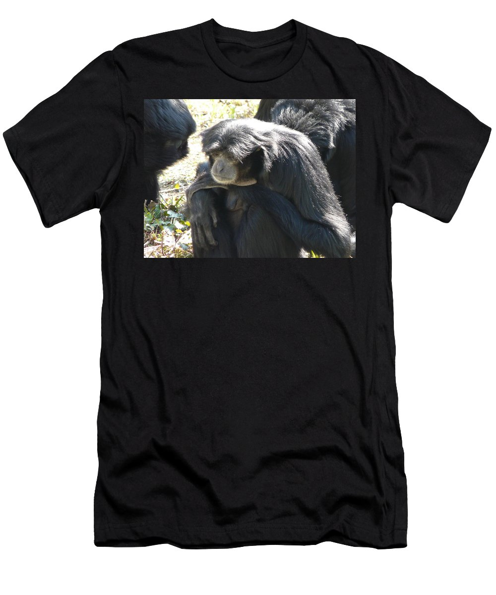 Animal Men's T-Shirt (Athletic Fit) featuring the photograph Melancholy by Valerie Ornstein