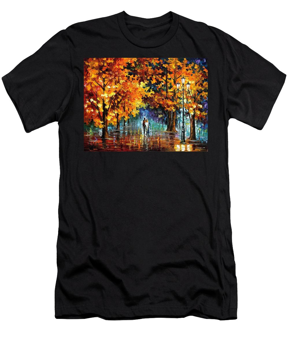 Afremov Men's T-Shirt (Athletic Fit) featuring the painting Melodies From The Past by Leonid Afremov