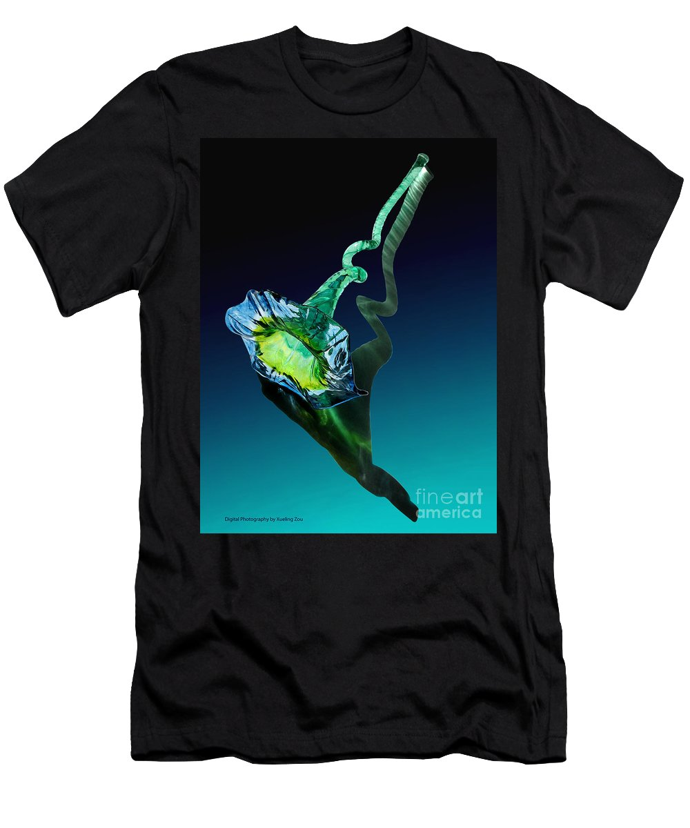 Photograph Men's T-Shirt (Athletic Fit) featuring the photograph Melodious Growth by Xueling Zou