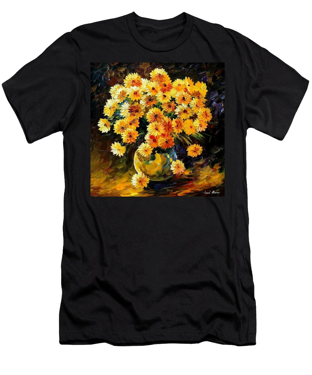 Still Life Men's T-Shirt (Athletic Fit) featuring the painting Melody Of Beauty by Leonid Afremov