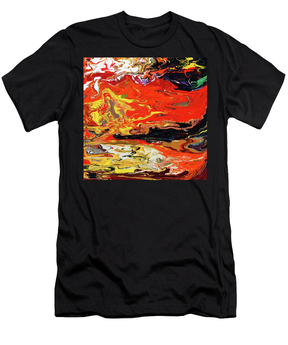 Fusionart Men's T-Shirt (Athletic Fit) featuring the painting Melt by Ralph White