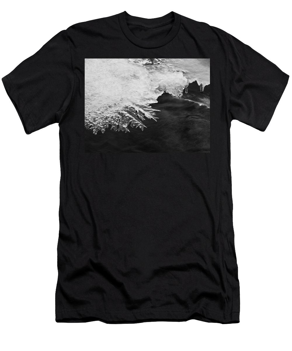 Ice Men's T-Shirt (Athletic Fit) featuring the photograph Melting Creek by Amber Flowers