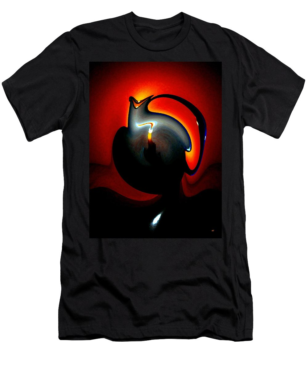 Dramatic Men's T-Shirt (Athletic Fit) featuring the digital art Melting Point by Will Borden