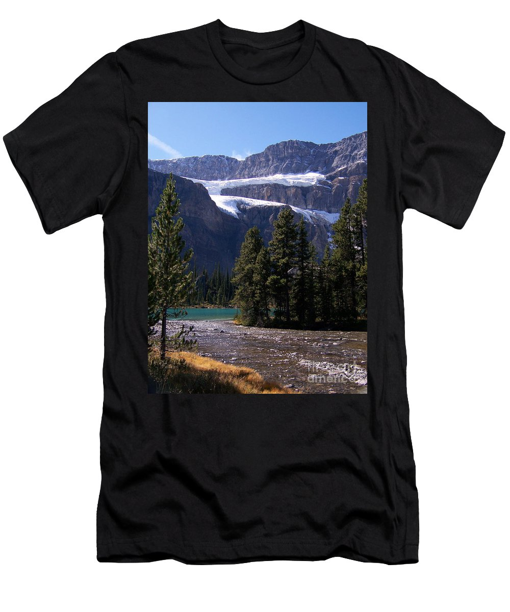 Meltwater Men's T-Shirt (Athletic Fit) featuring the photograph Meltwater by Greg Hammond