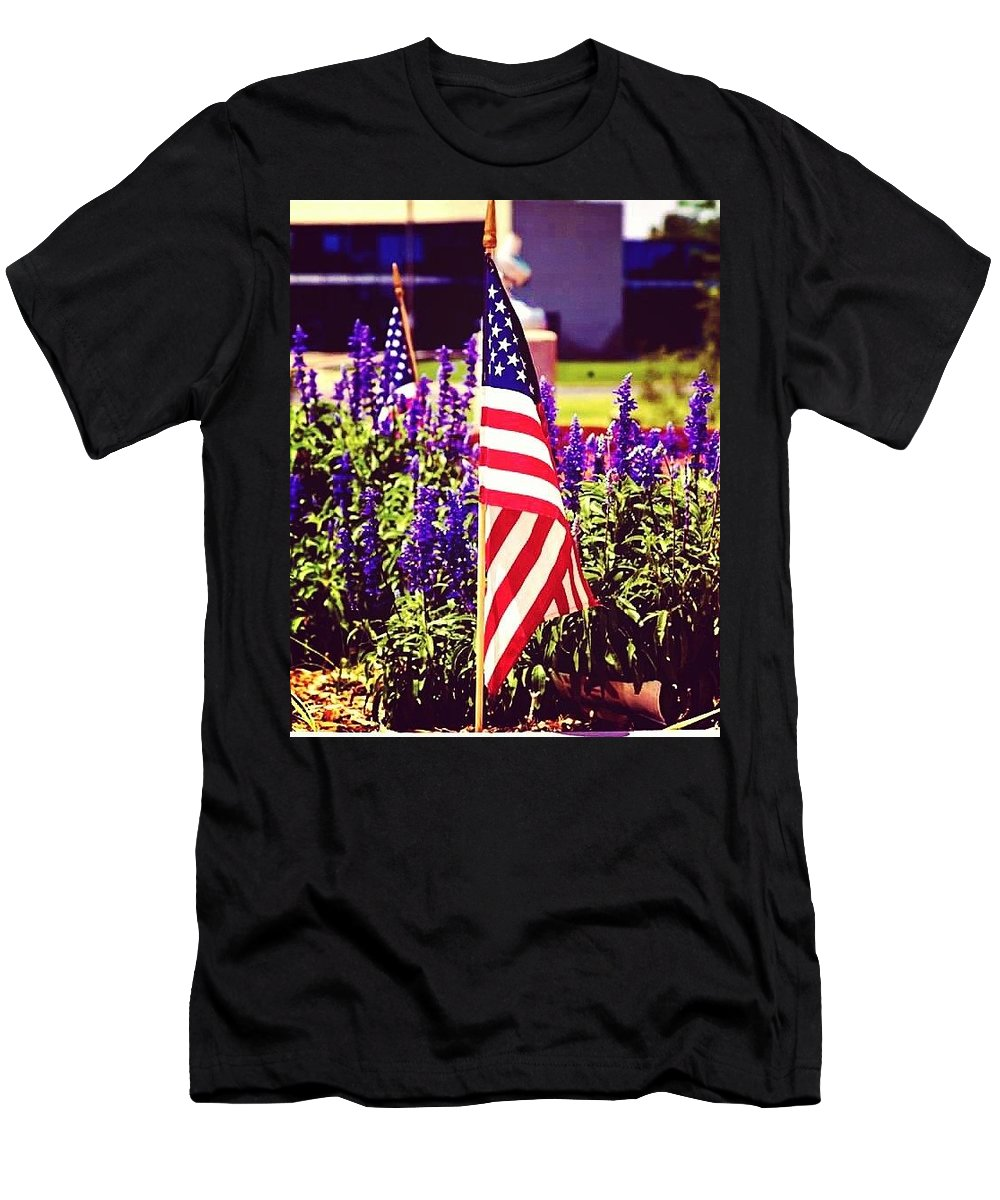 Men's T-Shirt (Athletic Fit) featuring the digital art Memorial Day by Crystal Blair