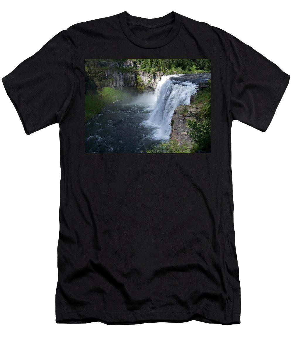 Landscape Men's T-Shirt (Athletic Fit) featuring the photograph Mesa Falls by Gale Cochran-Smith