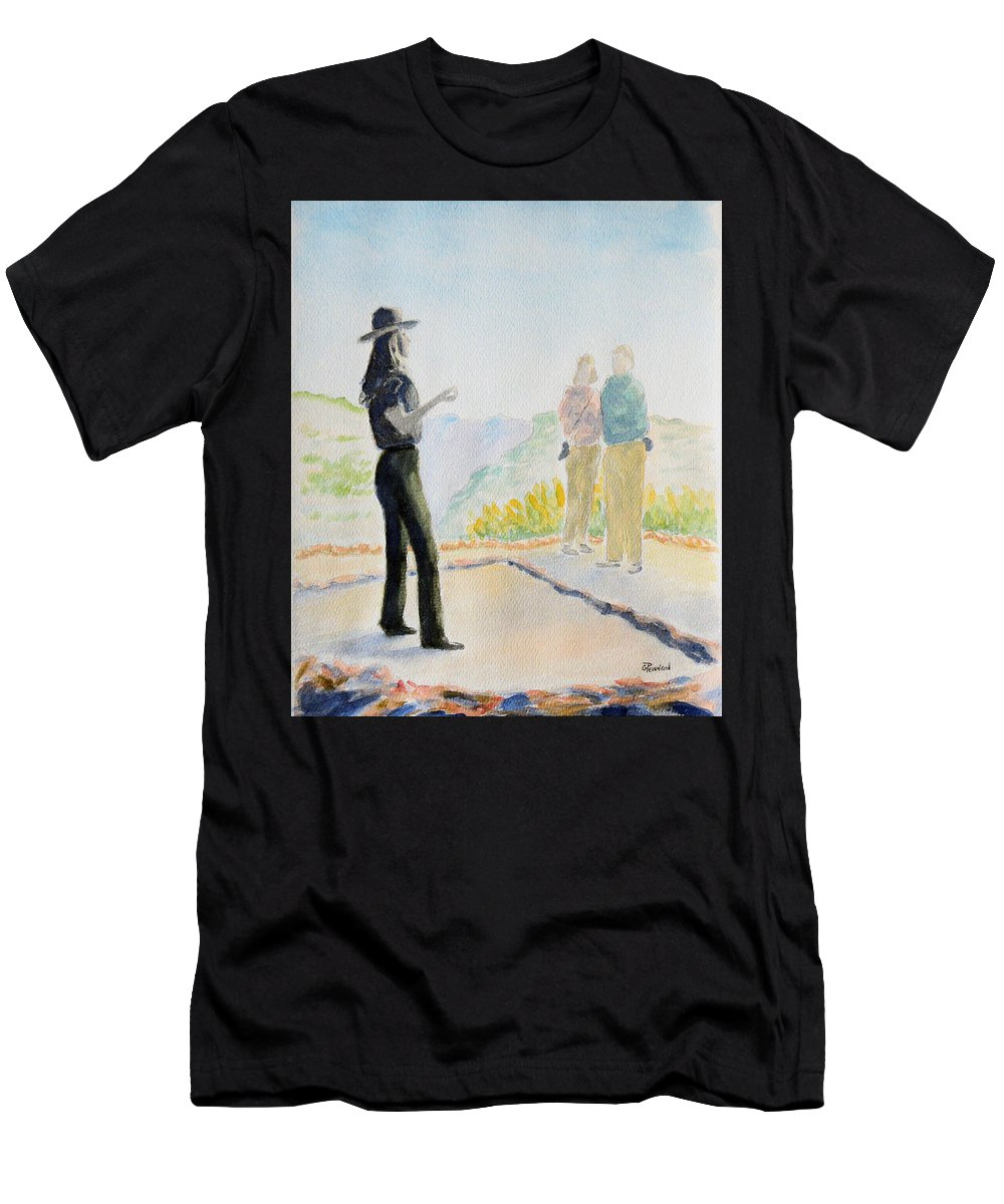 Painting Men's T-Shirt (Athletic Fit) featuring the painting Mesa Verde Ranger by Gilbert Pennison