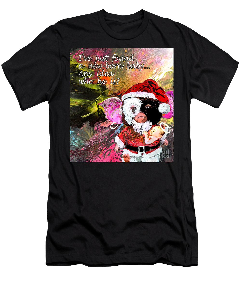 Fantasy Painting Men's T-Shirt (Athletic Fit) featuring the painting Messiah Found by Miki De Goodaboom