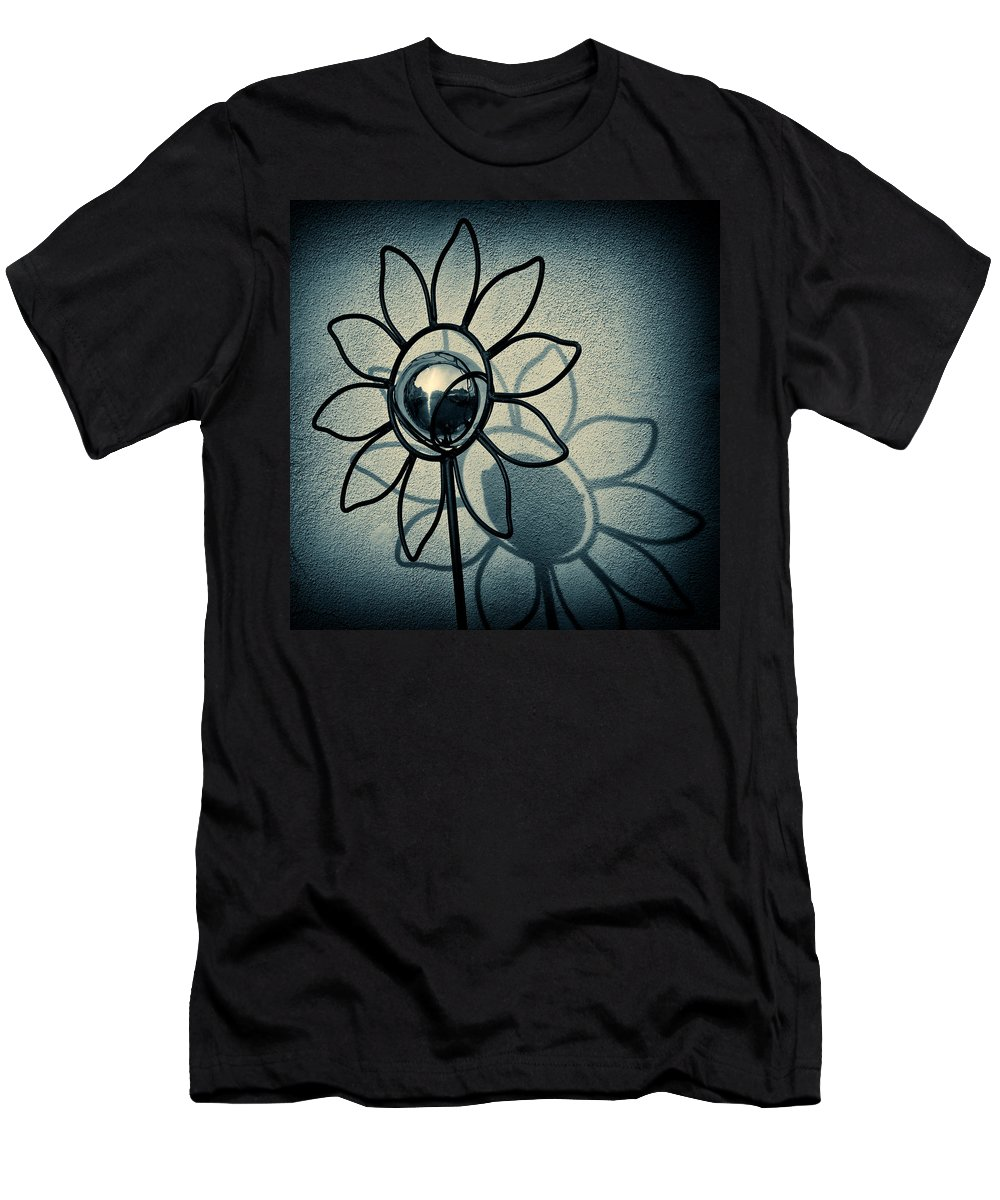Sunflower Men's T-Shirt (Athletic Fit) featuring the photograph Metal Flower by Dave Bowman