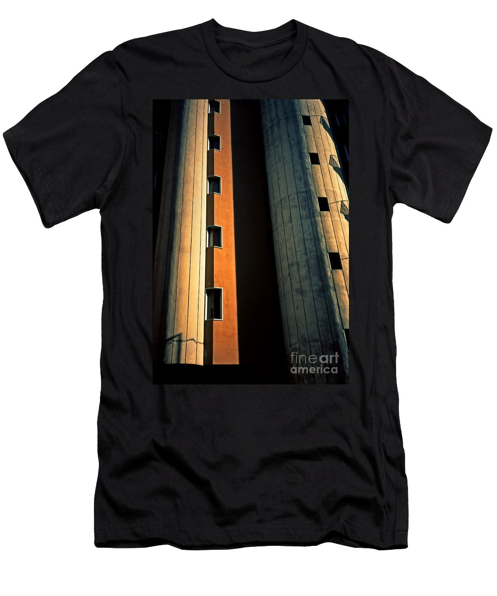 Metropolis Men's T-Shirt (Athletic Fit) featuring the photograph Metropolis by Silvia Ganora