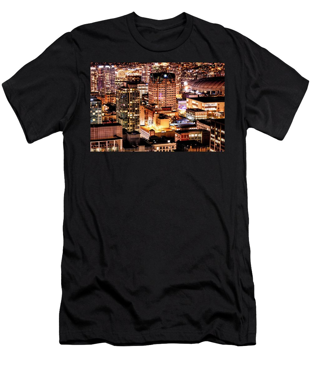 Vancouver Men's T-Shirt (Athletic Fit) featuring the photograph Metropolis Vancouver Mdccxv by Amyn Nasser