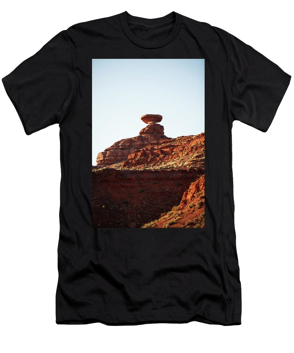 Utah Men's T-Shirt (Athletic Fit) featuring the photograph Mexican Hat, Utah by Warren Still