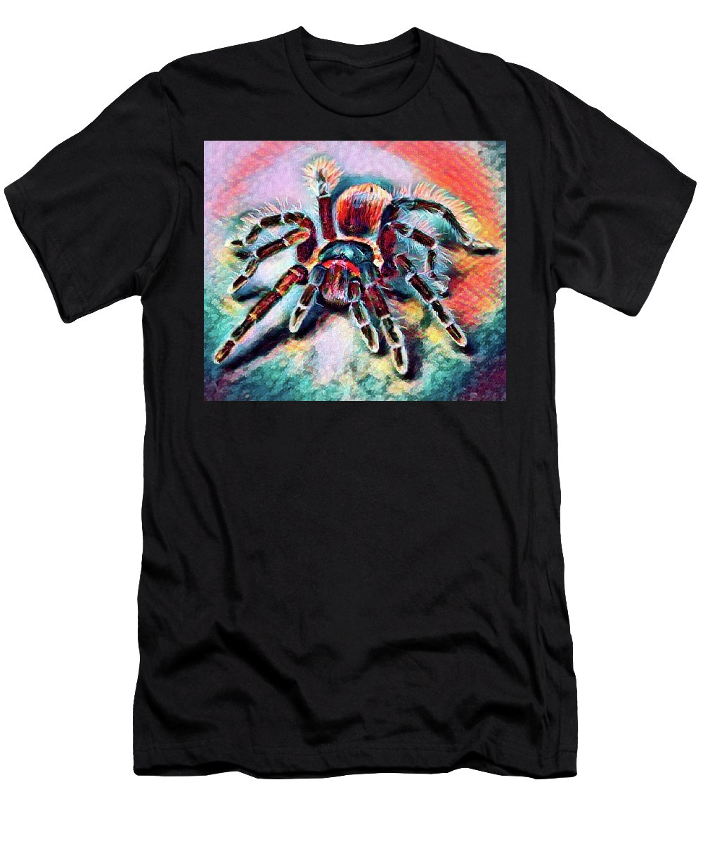 Abstract Men's T-Shirt (Athletic Fit) featuring the photograph Mexican Red Knee Tarantula by Robert Kinser