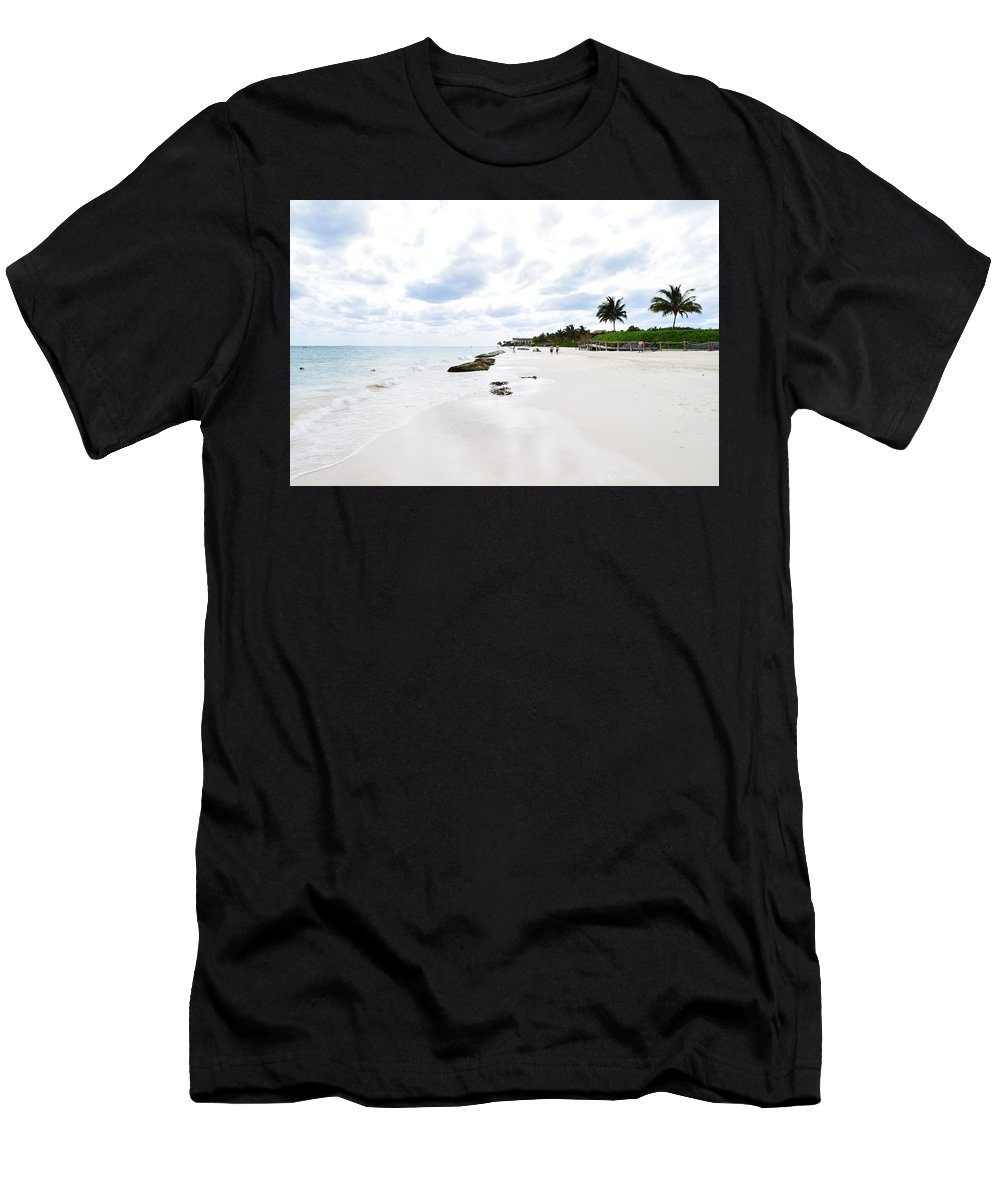 Ocean Men's T-Shirt (Athletic Fit) featuring the photograph Mexico Beaches2 by Christina McNee-Geiger